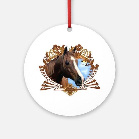 Horse Head Crest Round Ornament