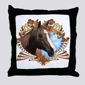 Horse Head Crest Throw Pillow