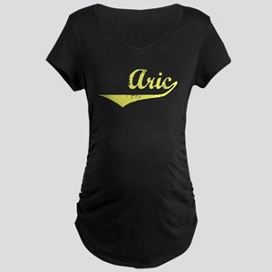 Aric Vintage (Gold) Maternity Dark T-Shirt