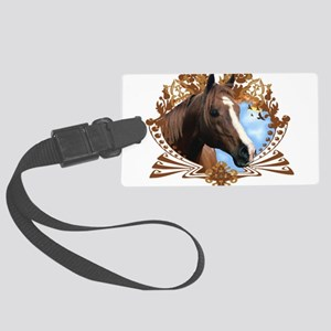 Horse Head Crest Large Luggage Tag