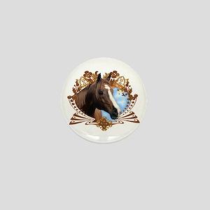 Horse Head Crest Mini Button