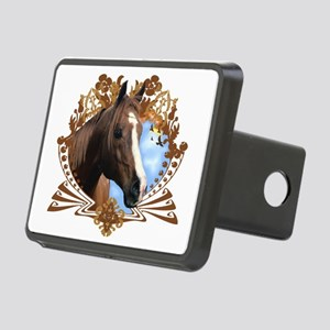 Horse Head Crest Rectangular Hitch Cover