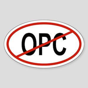 OPC Oval Sticker