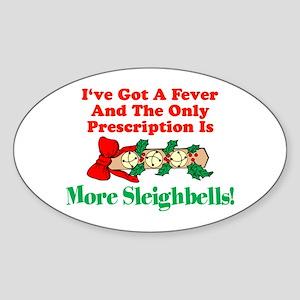 More Sleighbells! Oval Sticker