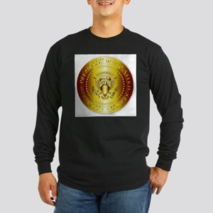 Presedent Seal In Gold Long Sleeve T-Shirt