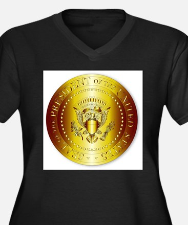 Presedent Seal In Gold Plus Size T-Shirt