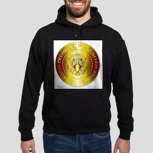 Presedent Seal In Gold Hoodie (dark)