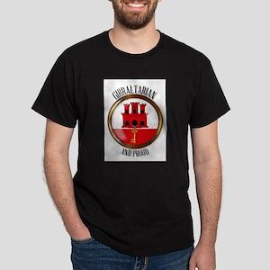 Gibraltar Proud Flag Button T-Shirt