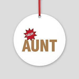 New Aunt Auntie Baby Birth Ornament (Round)