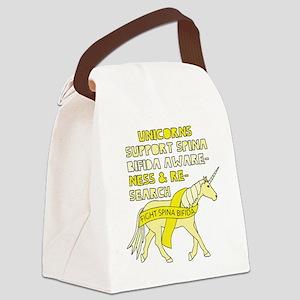Unicorns Support Spina Bifida Awa Canvas Lunch Bag