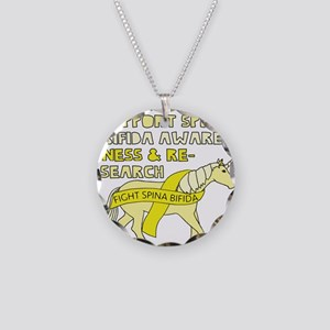 Unicorns Support Spina Bifid Necklace Circle Charm