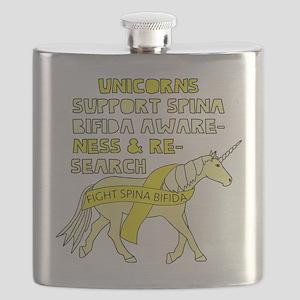 Unicorns Support Spina Bifida Awareness Flask