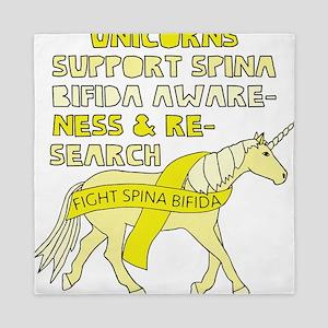 Unicorns Support Spina Bifida Awarenes Queen Duvet