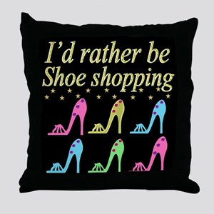 SHOE QUEEN Throw Pillow