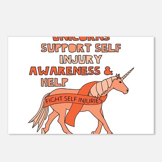 Unicorns Support Self Inj Postcards (Package of 8)