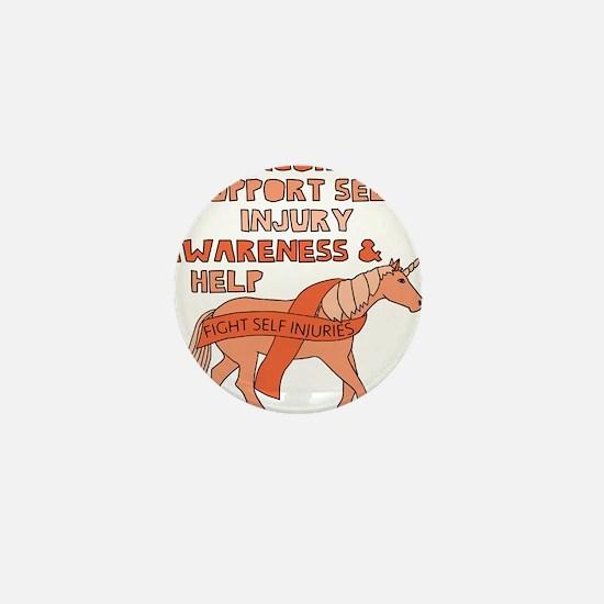 Unicorns Support Self Injury Awareness Mini Button