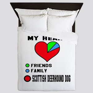 My Heart, Friends, Family, Scottish De Queen Duvet