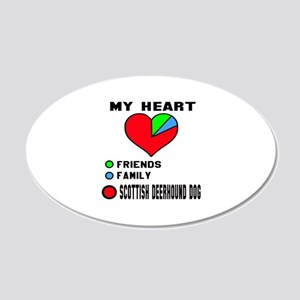 My Heart, Friends, Family, S 20x12 Oval Wall Decal