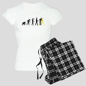 Evolution of man surveying technician Pajamas