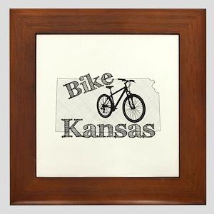 Bike Kansas Framed Tile