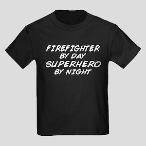 Firefighter Superhero Kids Dark T-Shirt
