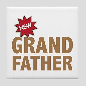New Grandfather Grandchild Family Tile Coaster