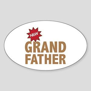 New Grandfather Grandchild Family Oval Sticker