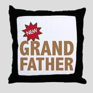 New Grandfather Grandchild Family Throw Pillow