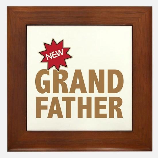 New Grandfather Grandchild Family Framed Tile