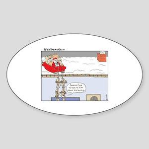 Santa-texting Sticker