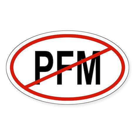PFM Oval Sticker