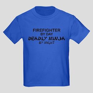 Firefighter Deadly Ninja Kids Dark T-Shirt
