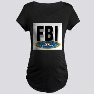 FBI Seal With Text Maternity T-Shirt