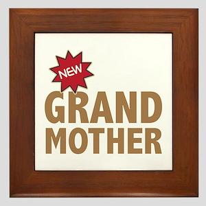 New GrandMother GrandChild Family Framed Tile