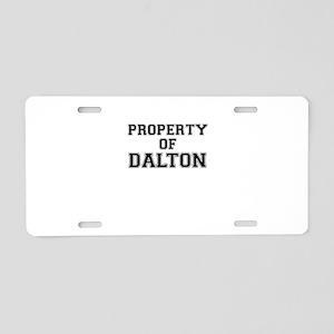 Property of DALTON Aluminum License Plate