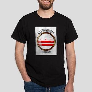 Washington DC Proud Flag Button T-Shirt