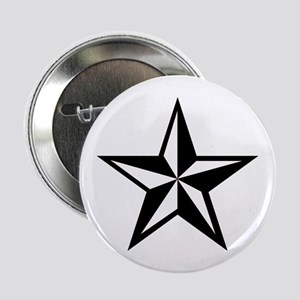 White Punk Nautical Star Button