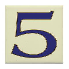 Spanish Blue Letter Tiles Tile Coaster