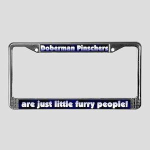 Furry People Doberman Pinscher License Plate Frame
