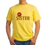 New Sister Sis Big Little Family Yellow T-Shirt