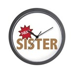 New Sister Sis Big Little Family Wall Clock
