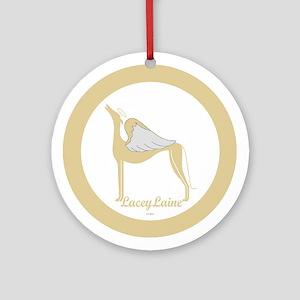 LACEYLAINE ANGEL GREY ROUND ORNAMENT