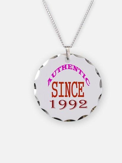 Authentic Since 1992 Birthda Necklace