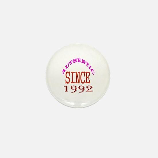 Authentic Since 1992 Birthday Designs Mini Button