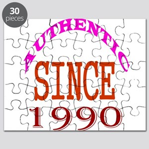 Authentic Since 1990 Birthday Designs Puzzle