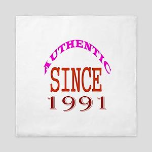 Authentic Since 1991 Birthday Designs Queen Duvet
