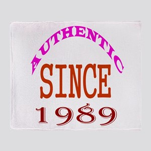 Authentic Since 1989 Birthday Design Throw Blanket