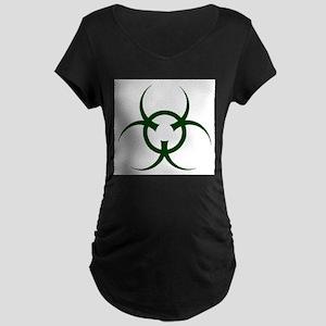 Bio Hazard Symbol Maternity T-Shirt