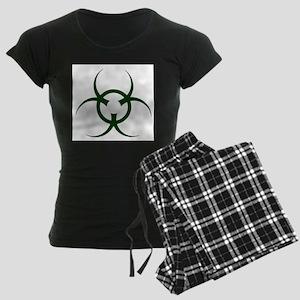 Bio Hazard Symbol Women's Dark Pajamas