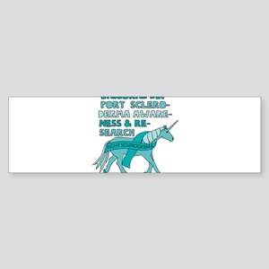 Unicorns Support Scleroderma Awaren Bumper Sticker